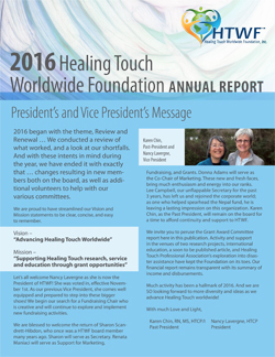 htwf 2016 Annual Report cover