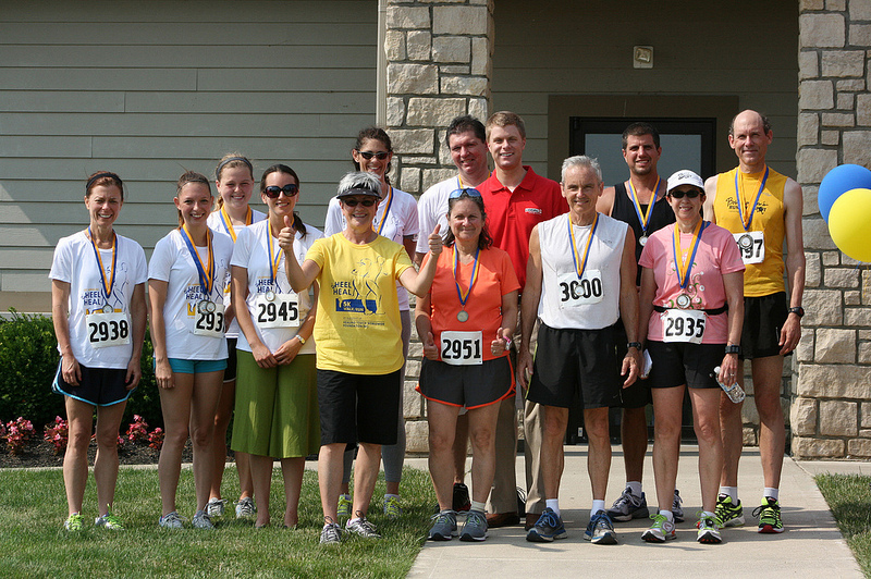 heel to heal race runner age group winners